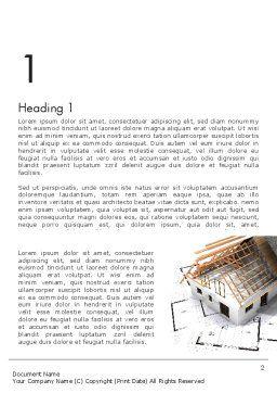 Renovation Plan Word Template, First Inner Page, 13081, Construction — PoweredTemplate.com