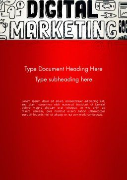 Digital Marketing Word Cloud Word Template, Cover Page, 13083, Careers/Industry — PoweredTemplate.com