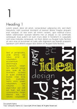 Idea Paint on Chalkboard Word Template, First Inner Page, 13085, Business Concepts — PoweredTemplate.com