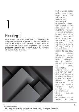 Gray Metal Blocs Word Template, First Inner Page, 13087, Business — PoweredTemplate.com