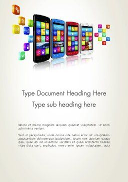 Mobile Application Development Word Template, Cover Page, 13088, Technology, Science & Computers — PoweredTemplate.com