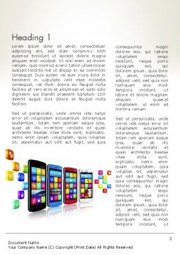 Mobile Application Development Word Template, First Inner Page, 13088, Technology, Science & Computers — PoweredTemplate.com