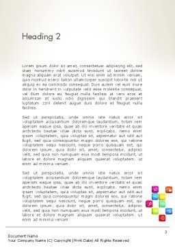 Mobile Application Development Word Template, Second Inner Page, 13088, Technology, Science & Computers — PoweredTemplate.com