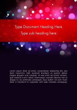 Festive Lights Word Template, Cover Page, 13090, Holiday/Special Occasion — PoweredTemplate.com