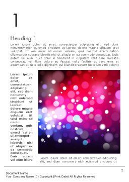 Festive Lights Word Template, First Inner Page, 13090, Holiday/Special Occasion — PoweredTemplate.com