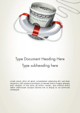 Financial Rescue Word Template, Cover Page, 13099, Financial/Accounting — PoweredTemplate.com