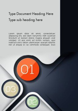 Futuristic Word Template, Cover Page, 13100, Business — PoweredTemplate.com