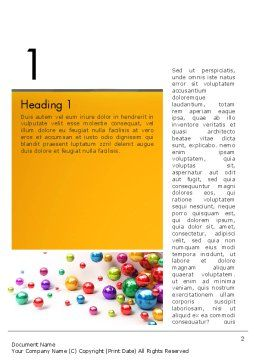 Shiny Colorful Balls Word Template, First Inner Page, 13101, 3D — PoweredTemplate.com