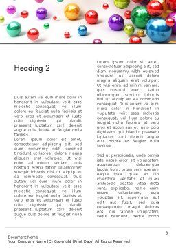 Shiny Colorful Balls Word Template, Second Inner Page, 13101, 3D — PoweredTemplate.com