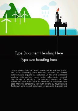 Clean Energy Word Template, Cover Page, 13102, Nature & Environment — PoweredTemplate.com