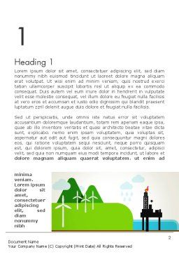 Clean Energy Word Template First Inner Page