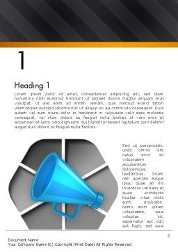 Speaking Trumpet Word Template, First Inner Page, 13108, Careers/Industry — PoweredTemplate.com