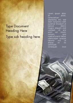 Throwing Money Down Drain Word Template, Cover Page, 13117, Consulting — PoweredTemplate.com