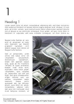 Throwing Money Down Drain Word Template, First Inner Page, 13117, Consulting — PoweredTemplate.com
