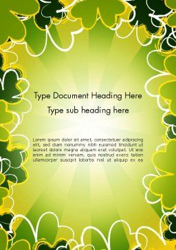 St Patrick Theme Word Template, Cover Page, 13119, Holiday/Special Occasion — PoweredTemplate.com