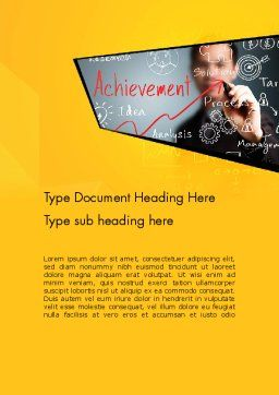 Business Achievement Word Template Cover Page