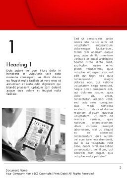 News on Tablet Word Template First Inner Page
