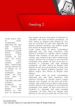 News on Tablet Word Template Second Inner Page