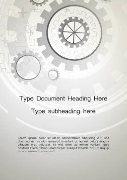 Machine Data Word Template, Cover Page, 13122, Technology, Science & Computers — PoweredTemplate.com