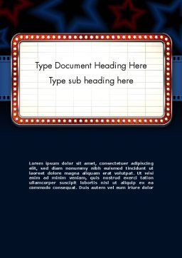 Star Neon Movie Sign Word Template Cover Page