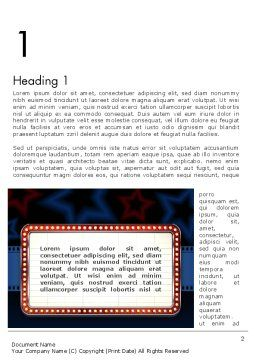 Star Neon Movie Sign Word Template First Inner Page