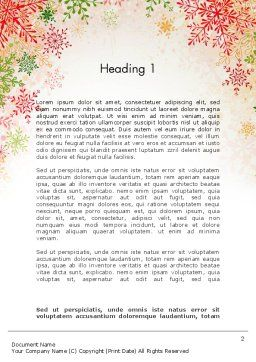 Colorful Snowflakes Word Template, First Inner Page, 13125, Holiday/Special Occasion — PoweredTemplate.com