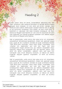 Colorful Snowflakes Word Template, Second Inner Page, 13125, Holiday/Special Occasion — PoweredTemplate.com