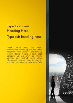 Project Idea Concept Word Template, Cover Page, 13126, Business Concepts — PoweredTemplate.com