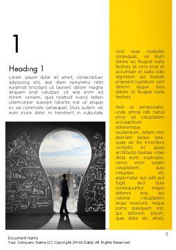Project Idea Concept Word Template, First Inner Page, 13126, Business Concepts — PoweredTemplate.com