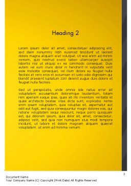 Project Idea Concept Word Template, Second Inner Page, 13126, Business Concepts — PoweredTemplate.com
