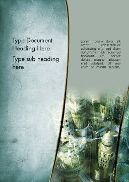 Mystical City Word Template, Cover Page, 13131, Construction — PoweredTemplate.com