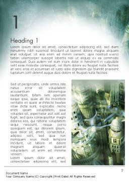 Mystical City Word Template, First Inner Page, 13131, Construction — PoweredTemplate.com
