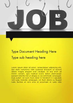 Vacancy Word Template, Cover Page, 13132, Careers/Industry — PoweredTemplate.com