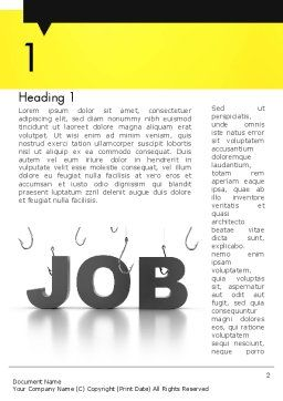 Vacancy Word Template, First Inner Page, 13132, Careers/Industry — PoweredTemplate.com