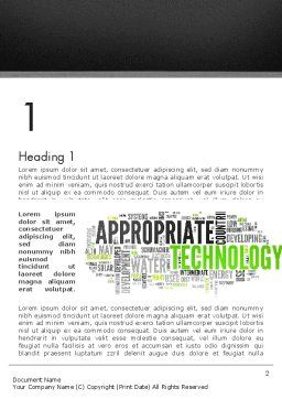 Social Economy Word Cloud Word Template First Inner Page