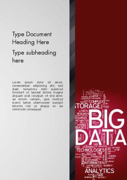 Big Data Word Cloud Word Template, Cover Page, 13135, Technology, Science & Computers — PoweredTemplate.com