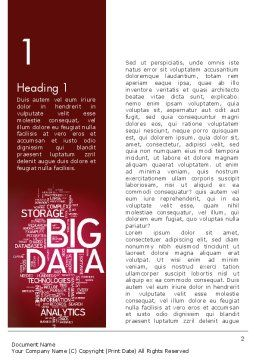 Big Data Word Cloud Word Template, First Inner Page, 13135, Technology, Science & Computers — PoweredTemplate.com