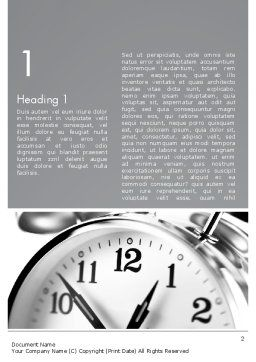 Alarm Clock Theme Word Template, First Inner Page, 13138, Consulting — PoweredTemplate.com