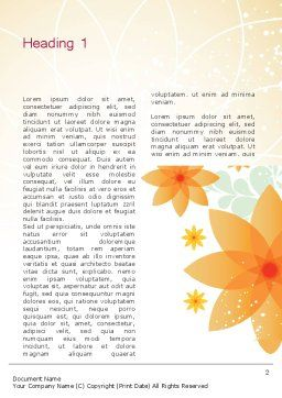 Abstract Origami Flower Word Template First Inner Page