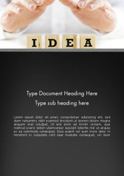 Idea Protection Word Template, Cover Page, 13144, Legal — PoweredTemplate.com