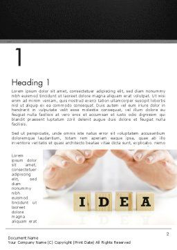 Idea Protection Word Template, First Inner Page, 13144, Legal — PoweredTemplate.com