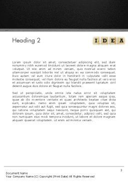 Idea Protection Word Template, Second Inner Page, 13144, Legal — PoweredTemplate.com