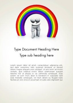 LGBT Word Template, Cover Page, 13149, 3D — PoweredTemplate.com