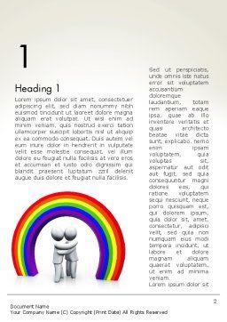 LGBT Word Template, First Inner Page, 13149, 3D — PoweredTemplate.com