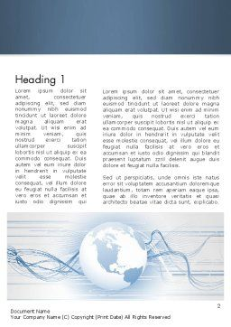 Next Generation Globe Word Template, First Inner Page, 13151, Global — PoweredTemplate.com