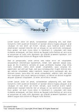 Next Generation Globe Word Template, Second Inner Page, 13151, Global — PoweredTemplate.com