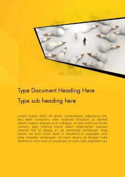 Finding Idea Word Template, Cover Page, 13152, Business Concepts — PoweredTemplate.com