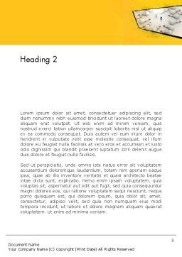 Finding Idea Word Template, Second Inner Page, 13152, Business Concepts — PoweredTemplate.com