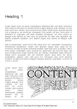 Content Word Cloud Word Template First Inner Page