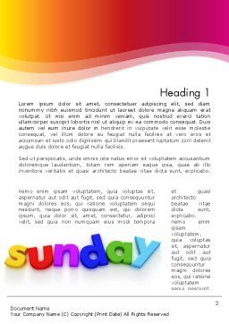 Sunday Word Template, First Inner Page, 13156, Holiday/Special Occasion — PoweredTemplate.com